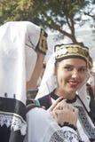 Mujer hermosa del grupo de la gente de Polonia fotografía de archivo