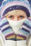 Mujer hermosa del invierno Fotos de archivo libres de regalías