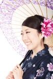 Mujer hermosa del kimono Imagenes de archivo