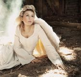 Mujer hermosa del ángel Foto de archivo