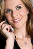 Mujer hermosa del teléfono Fotografía de archivo