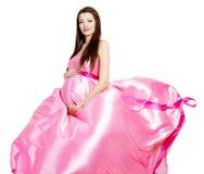 Mujer hermosa embarazada con estilo de la American National Standard del encanto Imágenes de archivo libres de regalías