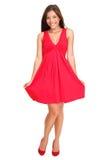 Mujer hermosa en alineada roja del verano Imagen de archivo libre de regalías