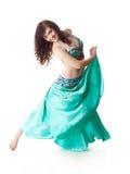 Mujer hermosa en danza árabe del baile Imagen de archivo