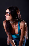 Mujer hermosa en gafas de sol fotos de archivo libres de regalías