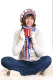 Mujer hermosa en la ropa caliente Imagen de archivo libre de regalías