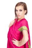 Mujer hermosa en la ropa india tradicional Fotos de archivo libres de regalías