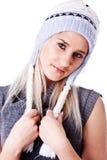 Mujer hermosa en sombrero del invierno Fotografía de archivo libre de regalías