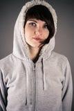 Mujer hermosa en una chaqueta Imagen de archivo
