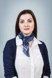Mujer hermosa joven con la cara seria Fotografía de archivo libre de regalías