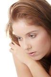 Mujer hermosa joven con la depresión Imagenes de archivo