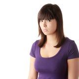 Mujer hermosa joven con la depresión Foto de archivo