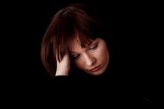 Mujer hermosa joven con la depresión Imagen de archivo