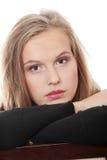 Mujer hermosa joven con la depresión Fotos de archivo libres de regalías