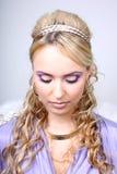 Mujer hermosa joven con las alas del ángel Imagenes de archivo