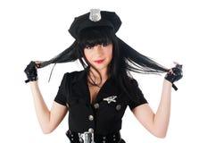 Mujer atractiva de la policía Foto de archivo libre de regalías