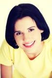 Mujer hermosa joven en ropa ocasional Imagen de archivo libre de regalías