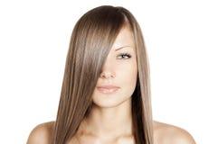 Mujer hermosa. pelo largo Foto de archivo libre de regalías