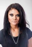 Mujer hermosa. Retrato de la moda. Maquillaje de la cara del primer Fotografía de archivo