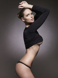 Mujer hermosa sexual en ropa interior Fotos de archivo libres de regalías