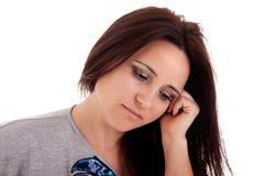 Mujer hermosa y triste de la medio-edad Imagen de archivo libre de regalías
