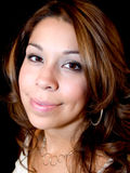 Mujer hispánica atractiva imagenes de archivo