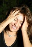 Mujer hispánica de risa Imagen de archivo libre de regalías