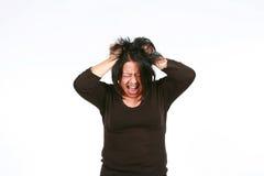 Mujer hispánica loca Fotos de archivo libres de regalías