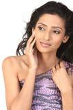 Mujer india con la expresión agradable de la cara foto de archivo libre de regalías