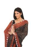 Mujer india en actitud de invitación Foto de archivo