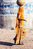 Mujer india en Orchha Fotos de archivo