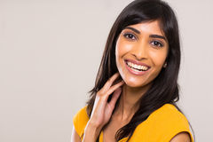 Mujer india joven alegre imágenes de archivo libres de regalías