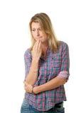 Mujer infeliz Fotografía de archivo