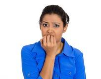 Mujer infeliz Fotos de archivo