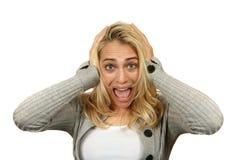 Mujer insana Foto de archivo libre de regalías