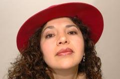 Mujer intensa de Latina Imagen de archivo