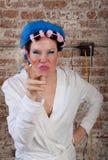 Mujer irritable Foto de archivo libre de regalías