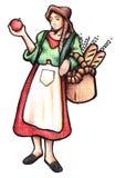 Mujer italiana stock de ilustración