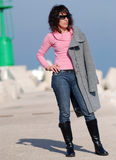 Mujer italiana de la manera (*) Foto de archivo
