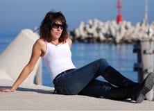 Mujer italiana de la manera (*) Imagen de archivo