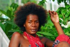 Mujer italiana negra Foto de archivo libre de regalías