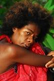 Mujer italiana negra Fotos de archivo