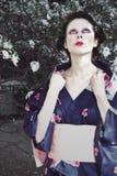 Mujer Japón del retrato Foto de archivo