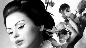 Mujer japonesa del geisha Imagen de archivo libre de regalías