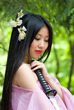 Mujer japonesa hermosa foto de archivo