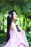 Mujer japonesa hermosa Imágenes de archivo libres de regalías