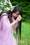 Mujer japonesa hermosa fotografía de archivo