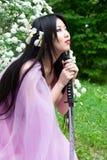 Mujer japonesa hermosa Imagen de archivo libre de regalías