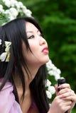 Mujer japonesa hermosa Foto de archivo libre de regalías