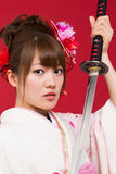 Mujer japonesa del kimono Imágenes de archivo libres de regalías